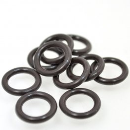 Findings - Round Rubber Rings - Chocolate (10)