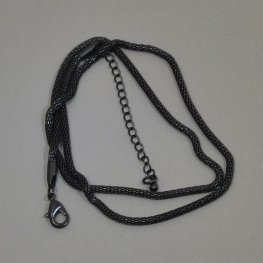Finished Chain - 18in Woven Wire Chain - Black