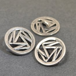 Metal Buttons - Triskelion - Antiqued Silver