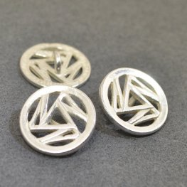 Metal Buttons - Triskelion - Bright Silver