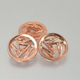 Metal Buttons - Triskelion - Bright Copper