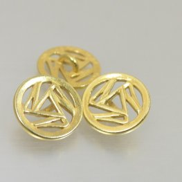Metal Buttons - Triskelion - Bright Gold Plated