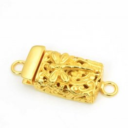 Box Clasp Dragonfly Filigree - Vermeil