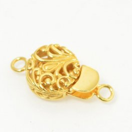 Box Clasp Open Filigree - Vermeil