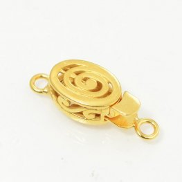 Box Clasp Open Spiral - Goldplated