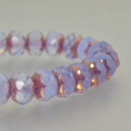 Czech Glass - 9x6mm Faceted Donut Rondelle - Plum Delightful (25)