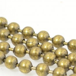 Chain - 6.4mm Ball Chain - Antiqued Brass (1 foot)