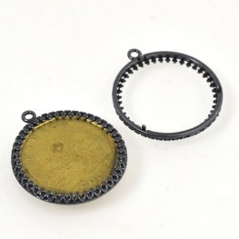 Coin Holder - ID 26.5mm Lucky Loonie Frame - Gunmetal