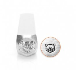 ImpressArt Stamps - 6mm Design Stamp/Punch - Kitty Cat Face