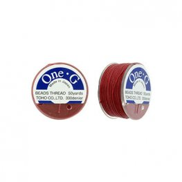 Thread - Toho One-G Beading Thread - Red (Spool)