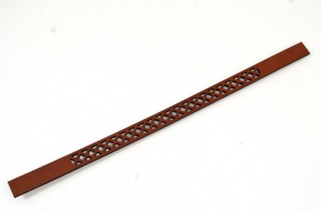 Leather - Laser Cut - 10mm Lattice Pattern - Brick (Piece) Manager Special