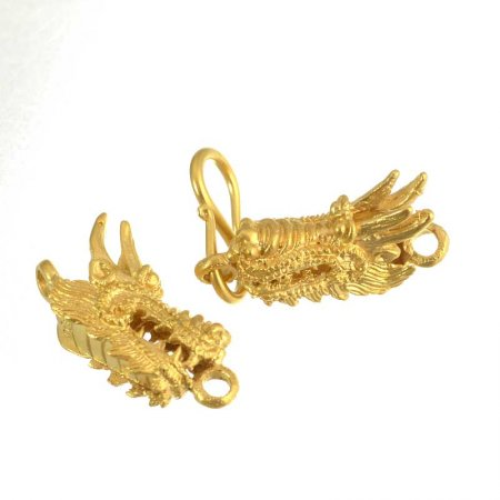 Hook and Eye Clasp - Indonesian Dragon - Vermeil
