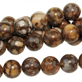 Stone Beads - 8mm Round - Fire Opal (strand)