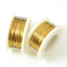 ParaWire - 24ga Round Wire - Faux Gold (Spool)
