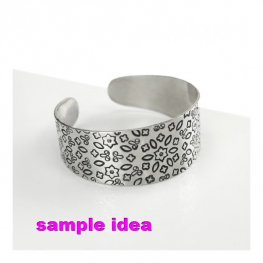 Metal Sheet - Tapered Bracelet Blank - Aluminum (2)