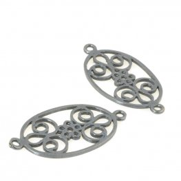 Finding - Link - Oval Curliques - Gunmetal
