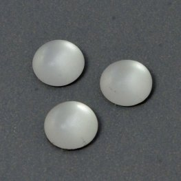 Glass Cabochon - 6mm Round - Matte Crystal