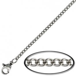Finished Chain - Necklace - 16in Curb Chain - Stainless Steel