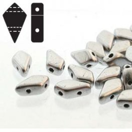 Czech Shaped Beads - 2-Hole Kite Beads - Bronze Aluminum