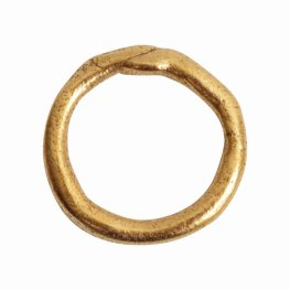 Findings - Connector Link - 22mm Organic Circle - Antique Gold