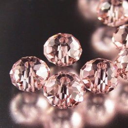Swarovski Bead - 6mm Faceted Donut (5040) - Vintage Rose (12)