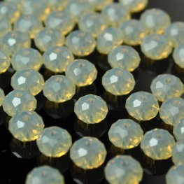 Swarovski Bead - 6mm Faceted Donut (5040) - Sand Opal (12)