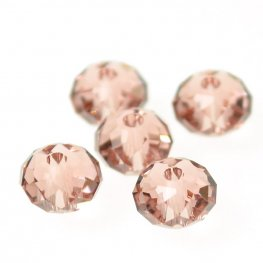 Swarovski Bead - 6mm Faceted Donut (5040) - Blush Rose (12)