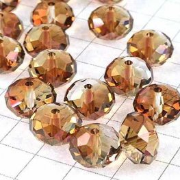 Swarovski Bead - 8mm Faceted Donut (5040) - Crystal Copper (6)