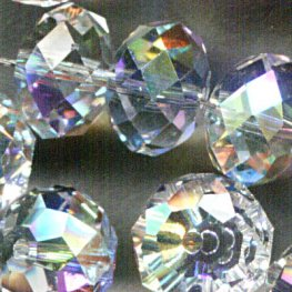 Swarovski Bead - 8mm Faceted Donut (5040) - Crystal AB (6)