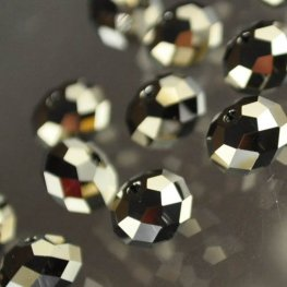 Swarovski Bead - 8mm Faceted Donut (5040) - Metallic Light Gold Crystal 2X (6)