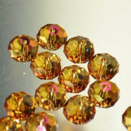 Swarovski Bead - 8mm Faceted Donut (5040) - Crystal Astral Pink (6)