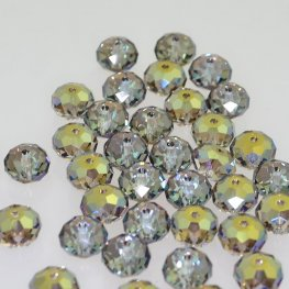Swarovski Bead - 8mm Faceted Donut (5040) - Crystal Iridescent Green (6)