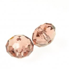 Swarovski Bead - 8mm Faceted Donut (5040) - Blush Rose (6)