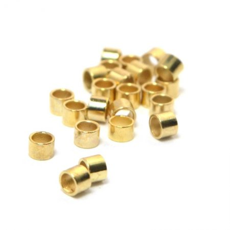 Crimp Tubes - Seamless - 2mm - Bright Gold Plated (72)