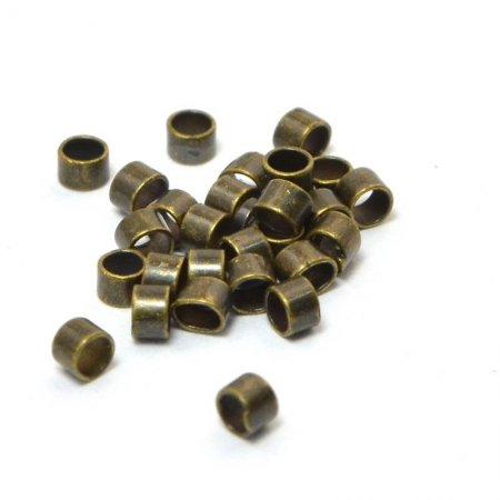 Crimp Tubes - Seamless - 1.5mm - Antiqued Brass (72)
