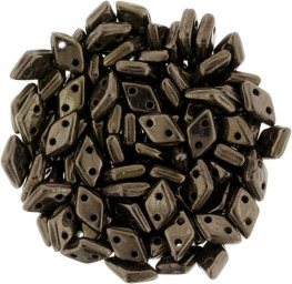 Glass Beads - Czechmates - 2-Hole Diamonds - Dark Bronze