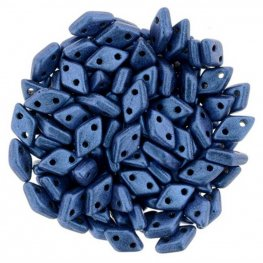 Glass Beads - Czechmates - 2-Hole Diamonds - Metallic Suede Blue
