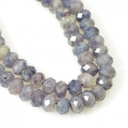 Stone Beads - 8mm Faceted Rondelles - Iolite (strand)