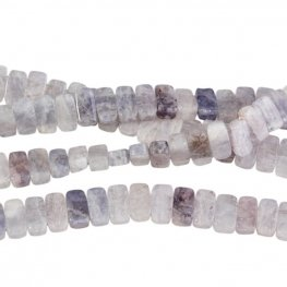 Stone Beads - 5x10mm Double Drilled Rectangle - Iolite (strand)