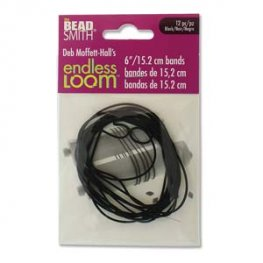 Tools - 6in Bands for Endless Loom - Black (12)