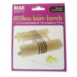 Tools - 7in Bands for Endless Loom - Black (50)