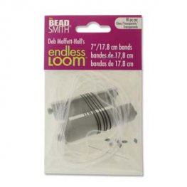 Tools - 7in Bands for Endless Loom - Clear (10)