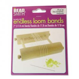Tools - 7in Bands for Endless Loom - Clear (50)