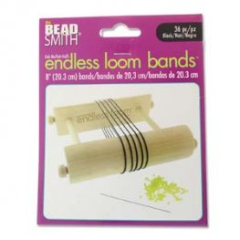 Tools - 8in Bands for Endless Loom - Black (36)