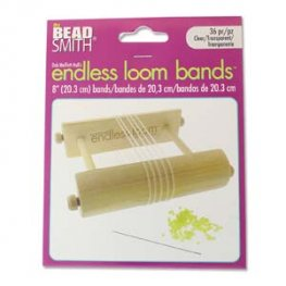 Tools - 8in Bands for Endless Loom - Clear (36)