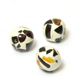 Stone Beads - 9.5mm Round - Amberlies