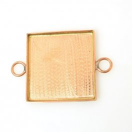 Resin Bezel Tray - 31mm Square Link - Bright Copper