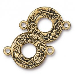 Findings - Link - Circle Koi - Antique Gold