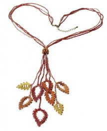 Kit - Miyuki Beading Kit - Designer - Persian Red Leaves Necklace