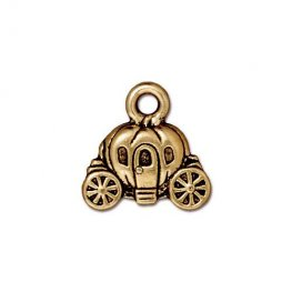 Charm - Pumpkin Coach - Antique Gold